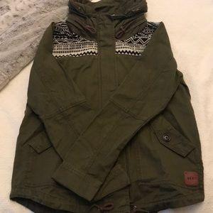 Army Green Jacket w/ Black & White Patterning